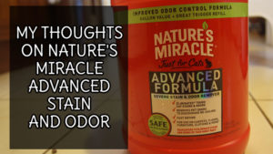 My Thoughts on Nature's Miracle Advanced Stain and Odor