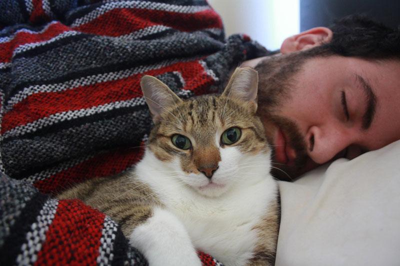 beau-cuddling